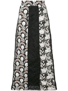 жаккардовая юбка макси Giamba