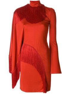 асимметричное платье с бахромой  Givenchy