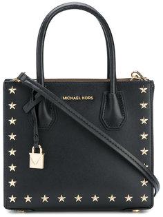 сумка-тоут с заклепками-звездами Mercer Michael Michael Kors