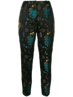 жаккардовые брюки с цветочным узором Incotex