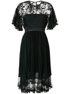 плиссированная кружевное платье Three Floor