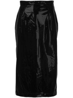 юбка-карандаш с эффектом лакированной кожи  G.V.G.V.