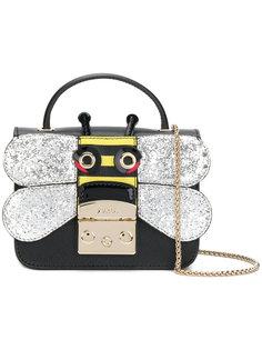 сумка на плечо с украшением в виде бабочки Furla