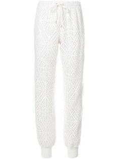спортивные брюки с ромбами и перфорацией  See By Chloé