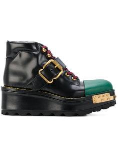 ботинки с квадратным носком Prada