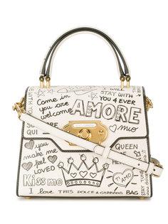 сумка на плечо с надписями Dolce & Gabbana