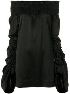 платье шифт с открытыми плечами  Saint Laurent