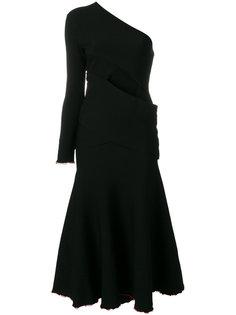 асимметричное платье с одним рукавом Proenza Schouler