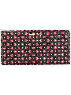 кошелек с цветочным принтом Miu Miu