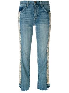 укороченные джинсы с цветочным принтом  Current/Elliott