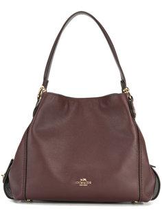 сумка-тоут с бляшкой с логотипом Coach