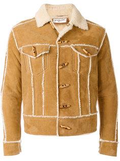 куртка с отделкой из овчины Saint Laurent