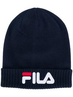 шапка-бини в рубчик с логотипом Fila