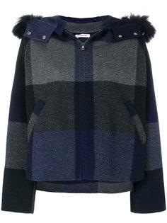полосатое пальто с капюшоном  P.A.R.O.S.H.