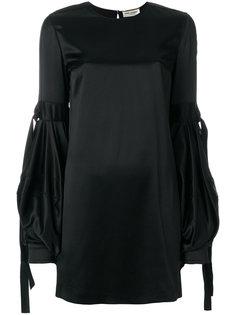 платье с пышными рукавами Saint Laurent
