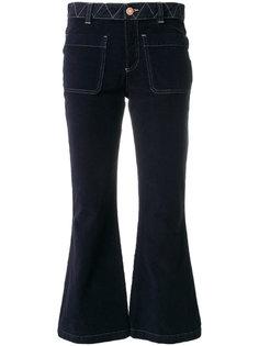 укороченные брюки клеш  See By Chloé