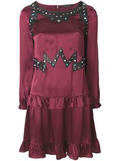 платье с заклепками и рюшами Frankie Morello