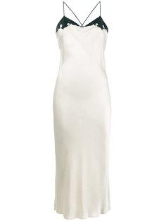 шелковое платье без застежки Fever Ksubi