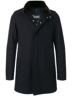 классическое пальто с меховым воротником Herno