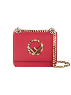 красная маленькая квадратная сумка Kan I F Fendi