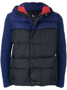 пуховая куртка с контрастными рукавами Moncler Grenoble