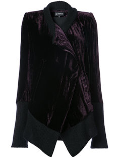 knitted trim asymmetrical jacket Ann Demeulemeester