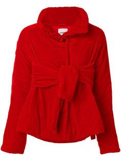 бархатная куртка-пуховик с поясом Aspesi
