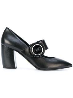 туфли на ремешке с пуговицей Prada