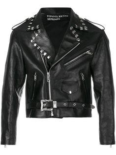 байкерская куртка с заклепками Enfants Riches Déprimés