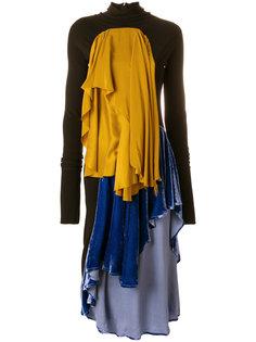 платье с длинными рукавами и драпировкой  Paula Knorr