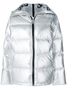 куртка-пуховик с эффектом металлик Sjyp