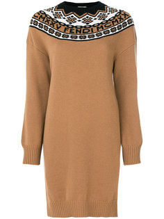трикотажное платье Nordic Fendi