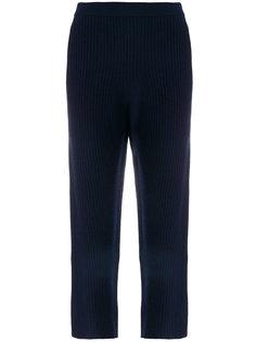 укороченные брюки  с отделкой в рубчик Joseph
