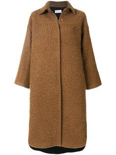 фактурное пальто свободного кроя Red Valentino