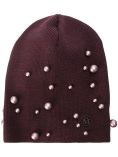 вязаная шапка с жемчугом Maison Michel