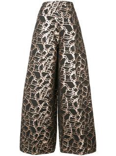 жаккардовые брюки-палаццо Christian Siriano