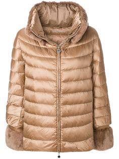 пуховая куртка свободного кроя с капюшоном с кроличьим мехом Hetregò