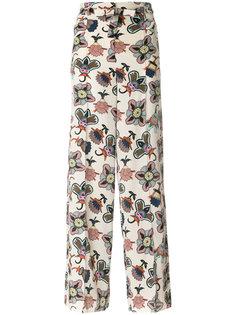 брюки-палаццо Popflowers с завышенной талией Valentino