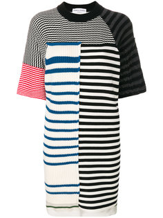 платье-футболка дизайна колор-блок Sonia Rykiel