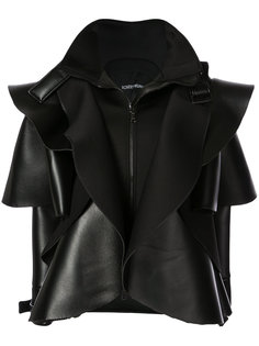 кожаная куртка с оборками Robert Wun
