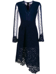 асимметричное платье с кружевом Ermanno Scervino
