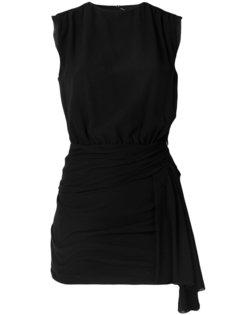 облегающее платье с запахом Saint Laurent