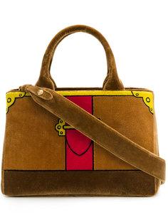 сумка-тоут с эффектом тромплей Prada