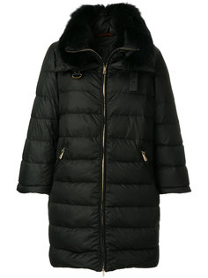 пуховая куртка с меховой оторочкой Baldinini