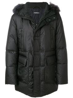 пальто с меховой окантовкой Baldinini