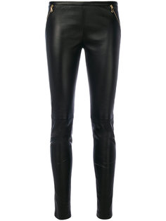 кожаные брюки Emilio Pucci