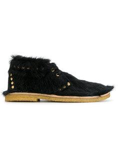 ботинки с отделкой из телячьей шерсти Prada