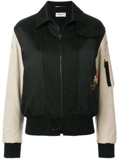 куртка-бомбер с вышивкой Saint Laurent