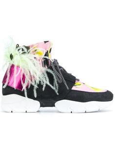 кроссовки с цветочными панелями MSGM