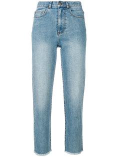 джинсы с бахромой  A.P.C.